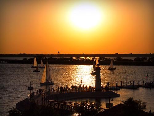 sunset lighthouse water pier dallas ray texas sailboats rockwall picnik lakerayhubbard rockwalltx