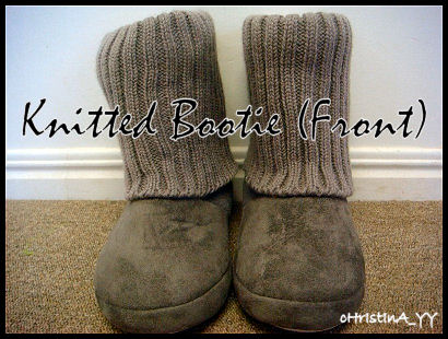 Grey Knitted Bootie - Front