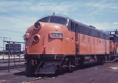 Milwaukee Road #119A F7 (railsr4me) Tags: trains locomotives railroads milwaukeeroad bensonville