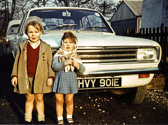 Nostalgia & Knobbly Knees (Chrissie64) Tags: old family boy portrait england people history film me girl childhood kids youth vintage children 60s flickr personal yorkshire memories places siblings retro nostalgia scanned pout blogged 1960s myfavourites viva hb brothersister vauxhall digitalimage knobblyknees byram wheniwasyoung
