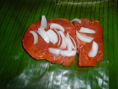 Acomodando la cochinita pibil
