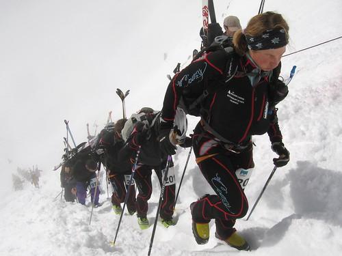 Nina leading the way up the Col du Reidmatten