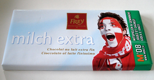 Frey Milch Extra Swiss chocolate with Euro '08 design
