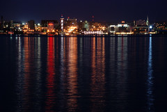 Erie Pennsylvania (erie,pa) Tags: city stpeters reflection church water skyline night lights bay colorful lakeerie view pennsylvania pa shore erie sheraton peninsula saintpeters bayfront eriecounty eriepa hamot bicentennialtower eriepennsylvania bayfrontconventioncenter eriecountypennsylvania