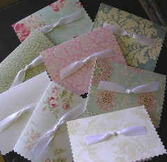Assorted Fabric Stationery (prettypeardesigns) Tags: flowers floral paper cards unique country gifts fabric gift ribbon elegant stationery invitations personalized notecards monogrammed shabbychic prettypeardesigns