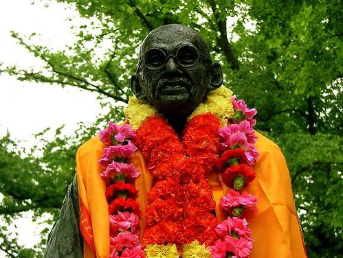 Ghandi en la India