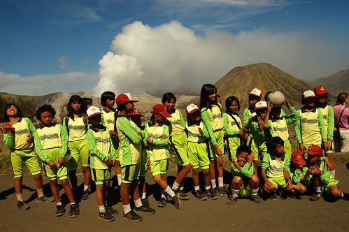 Bromo at the background