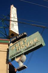 20080609 West House (Tom Spaulding) Tags: california ca old sign bar vintage hotel pub neon lounge powerlines tavern signage us40 roseville westhouse route40 highway40 rosevilleca historicusroute40