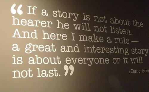 John Steinbeck on Story telling...