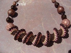 Spirale cellini (marinabead) Tags: collier necklace beads jewelry bijoux peyote perles rocaille delicas rocailles