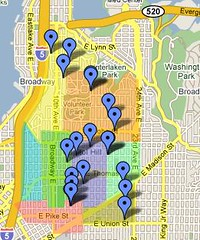 Capitol Hill Garage Sale Day Map