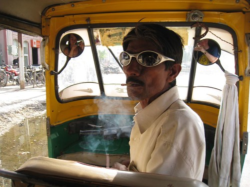 Tuk-tuk driver in Agra, India