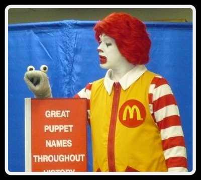 Ronald McDonald and Puppet