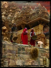 Bringing back into existence the splendor of Khajuraho (designldg) Tags: woman india heritage temple construction women labor religion labour hindu jain khajuraho madhyapradesh  articulateimages
