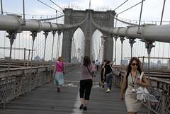 Brooklyn Bridge (Poupetta) Tags: newyorkcity bridge usa newyork manhattan brooklynbridge boardwalk thebigapple brooklynbridgenyc