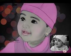 ( - 7~ Soon ~) Tags: pink portrait white black cute art girl photoshop scrapbook sketch kid sweet drawing gray kuwait draw edit doha qatar  do7a qtr bnt  dallal    q6r  qatars   q9r eldo7a