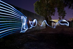 Light Writing (stefan-23) Tags: longexposure art lights graffiti pentax sigma led adelaide visual 1770 2008 studies practical lightart lightwriting k10d gpedition
