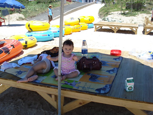 Abi on the beach platform (20,000 Won)
