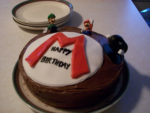 Mario Bros Birthday Cake