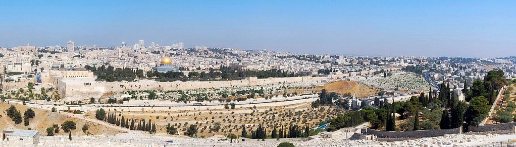 View from Mt. Olives, יְרוּשָׁלַיִם  Jerusalem 耶路撒冷