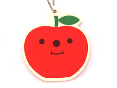 decole apple air freshener (Peachypan) Tags: cute apple car smiling japan japanese kawaii import happyface scent airfreshener decole peachypan decolello