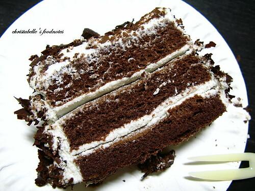 紅葉黑森林蛋糕剖面