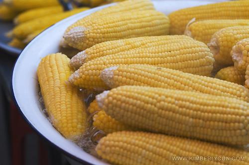 Boiled corns.