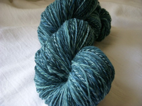 Turquoise Splendor - roving from Enchanted Knoll Farm