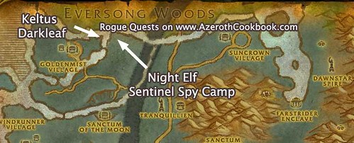 Map of Keltus Darkleaf & Sentinel Spy Camp