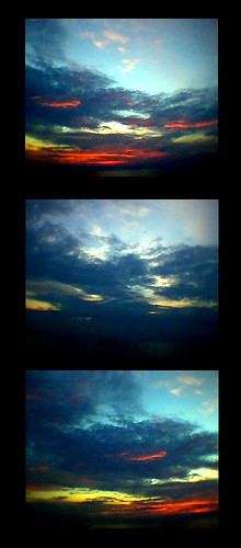 Three Images Of The Same Sunset
