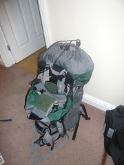 My big rucksack full of my stuff