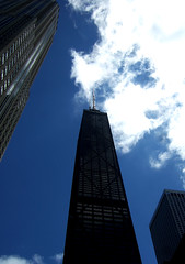 (SofiDofi) Tags: blue sky chicago building clouds skyscraper outdoors cool august lookingup tall dizzy summer08