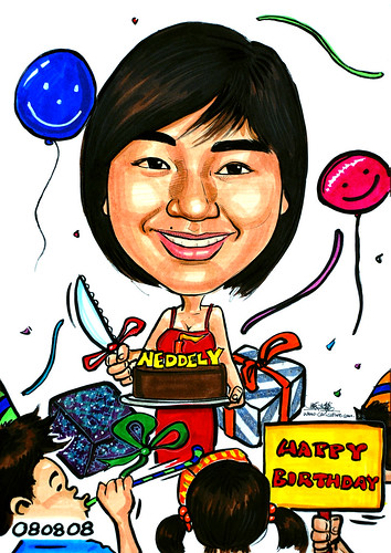 Caricature theme Happy Birthday