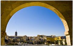 malta isle san julians (paololivorno) Tags: street sky horse church rock stairs la boat cafe san blu hard malta medieval isle valletta julians marsaxlokk