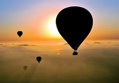 Corona from a Balloonar Eclipse (ms4jah) Tags: california sunset shadow sky hot colors del contrast mar high san ride pacific air balloon flight diego southern coastal coastline ballooning shaft