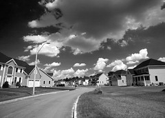 Clouds Gather Over McMansions 08.08.18 7668 (rowland-w) Tags: street sky blackandwhite bw cloud house canon massachusetts suburbia neighborhood explore 5d suburb mcmansion