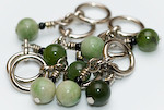 Handmade Stitch Markers - Shades of Jade