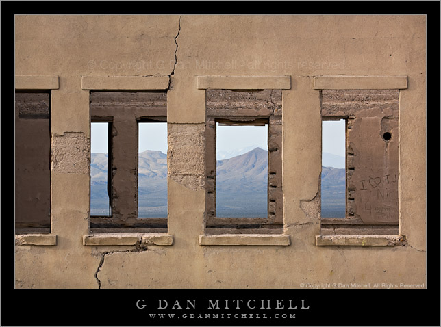 Rhyolite School Windows, Amargosa Range