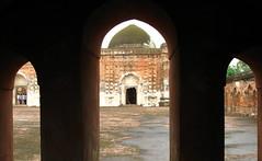 Katra Mosque (Octobit) Tags: old travel red india building architecture ancient ruins arch muslim islam bricks religion arches mosque dome framing bengal touristattraction bangla islamic islamicarchitecture westbengal nawab dilapidating murshidabad pashchimbanga