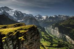View of Lauterbrunnen Valley from Mannlichen / HDR 2 (kirillp93) Tags: mountain mountains alps nature landscape switzerland swiss valley lauterbrunnen bernese jungfrau swissalps oberland