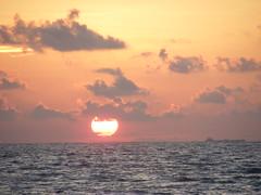 Sunrise in the Gulf - DSCF2073 (ShutterSparks) Tags: ocean trip travel cruise sunset sea sky gulfofmexico water rio clouds america sunrise mexico fuji gulf florida guatemala central ft caribbean passage dulce s700 centralamerica myers centroamerica s5700 shuttersparks