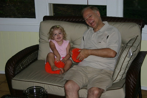 Anna and Opa had matching fun toys