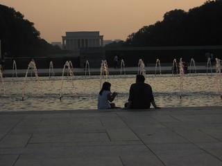 Lincoln Memorial from World War II Memorial, Washington, D.C.