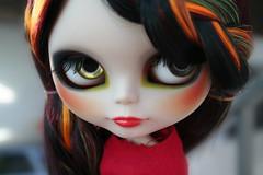 I don't care (erregiro) Tags: dark carved eyes doll gothic makeup lips blythe mold custom aubrey encore saran darky rbl reroot erregiro primadolly