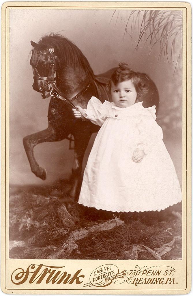 """The Rocking Horse Winner"" - circa 1890 Cabinet Card"