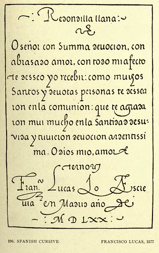 17- Letra española cursiva -Francisco Lucas 1577
