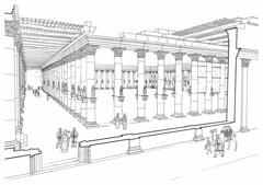 L'Agora de Palmyre (Syrie), vue restituée
