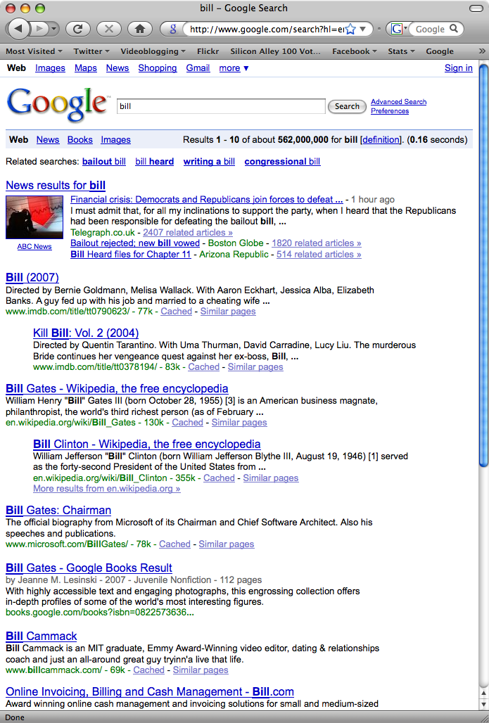 Bill Cammack - #7 Google result out of 560,000,000 pages for 'Bill'