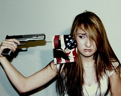 Day 203 - If McCain Wins, I Could Just... (Oh Captain - My Caitlin) Tags: sarah america model election joke flag united president days states 365 bang campaign democrat mccain rodriguez bbgun threesixtyfive