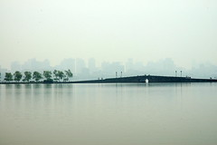 """City of Hangzhou from West Lake""  DSC_1047 (kluehirschSnowpine) Tags: china city bridge trees reflection water ancient cityscape westlake hangzhou essence"